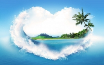 Love_heart Tropical_Ocean_Palm_Tree_39741_detail_thumb